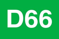 D66 logo